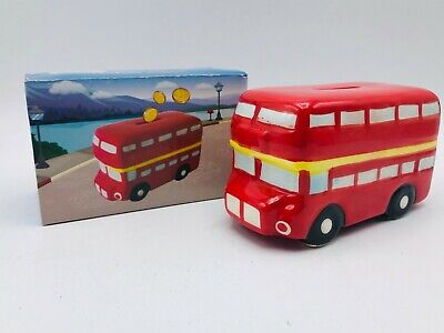 UK BIG SALE! London Routemaster Ceramic Bus Money Box Piggy Bank Decoration • 6.99£