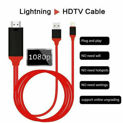 AU15.55 • Buy 8 Pin Lightning To HDMI Cable Digital TV AV Adapter For IPhone XS MAX 8 7 IPad