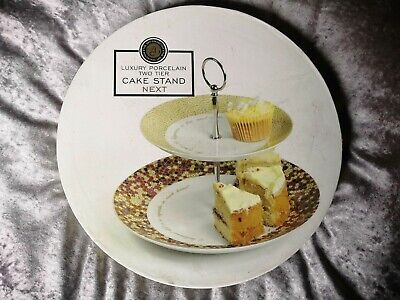 NEXT Retro Afternoon Tea / Cup Cake Stand 2 Tier Brand New In Box • 12.99£