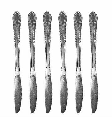 Kings Pattern Dinner Knives Large Table Knife Cutlery Set Of 6 • 3.99£