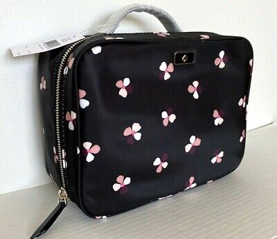 $ CDN77.24 • Buy New Kate Spade New York Travel Cosmetic Bag Dawn Dusk Buds Black Multi