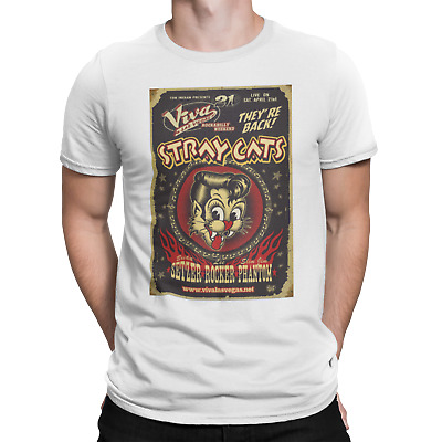 Stray Cats T Shirt Concert Rock Band Motorcycle Motorbike 60S Rockabilly  • 5.99£