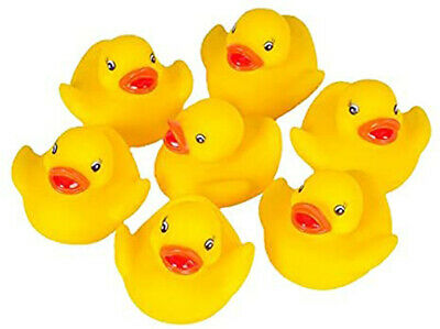 10 X Yellow Bathtime Rubber Ducks Bath Toy Squeaky Water Play Kids Baby Shower • 4.99£