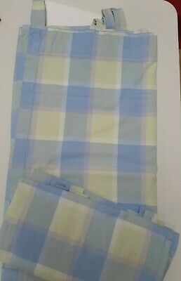 Curtains By NEXT~ 66 /173 Cm X 72 /183 Cm Drop ~Mint Large Check~  Tab Top  • 13.95£