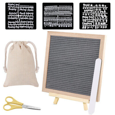 Wooden Letter Board Message Frame Boards Changeable With Felt Symbol Numbers 10  • 13.99£
