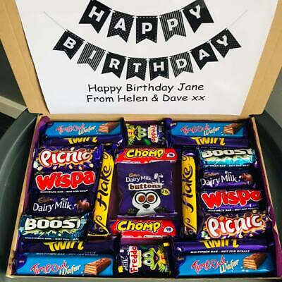 Personalised GIANT CADBURY Chocolate Sweet Box Hamper Selection Birthday Gift • 11.50£