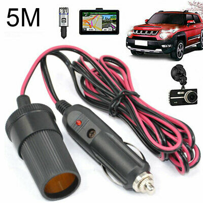 5M Car Cigarette Cigar Lighter Extension Cable Adapter Socket Charger Cable 12V • 7.12£