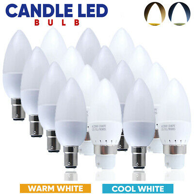 Small Bayonet Cap SBC B15 5W LED Candle Bulbs Spotlight Warm/Cool White Light • 11.99£