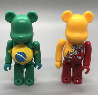 $44.99 • Buy Rare MEDICOM Flag Lot Brazil+Bhutan Series 3 24 Bearbrick 100% Soccer US Seller