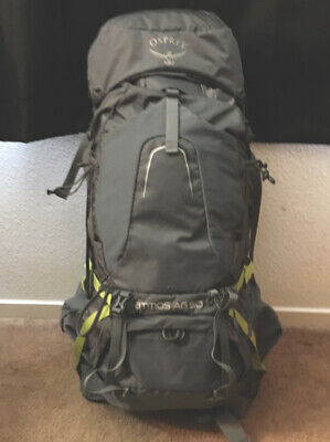 $102.50 • Buy NEW! Osprey Atmos AG50 Abyss Grey LG AG Hiking Backpack Large