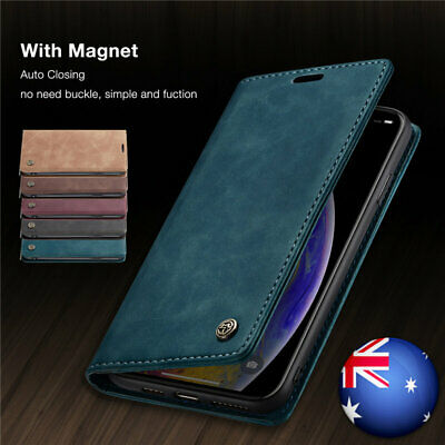 AU11.99 • Buy For IPhone XS Max XR 8 7 6s 6 Plus Luxury Slim Leather Wallet Flip Case Cover