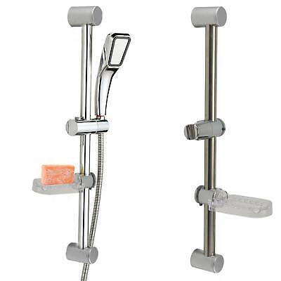 Chrome Bathroom Shower Riser Rail Bracket Shower Head Holder Bar Kit Adjustable • 8.39£