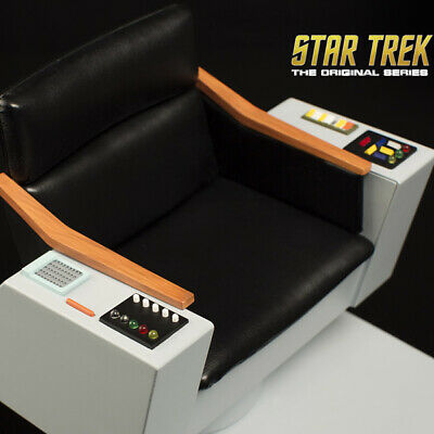 $ CDN190.24 • Buy QMX Star Trek TOS Captains Chair 1:6 Scale NEW SEALED DOUBLEBOX