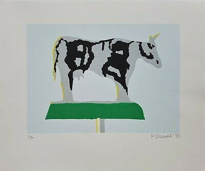 Peter Dumas B:1944 Listed Dutch Artist Limited Edition Signed Cow Print • 46.99£