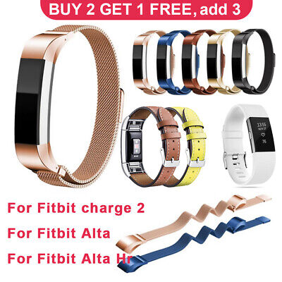 AU11.99 • Buy Replacement Wristband Milanese Silicone Leather Band For Fitbit Charge 2/Alta/Hr