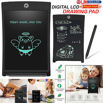 8.5 Electronic Digital LCD Writing Pad Tablet Drawing Graphics Board Graphic Kid • 5.49£