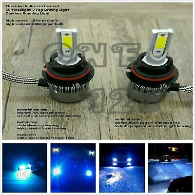 $16.49 • Buy 2x 9007 HB5 8000k Ice Blue LED Headlight Bulbs High Low Beam Conversion Kit Pair
