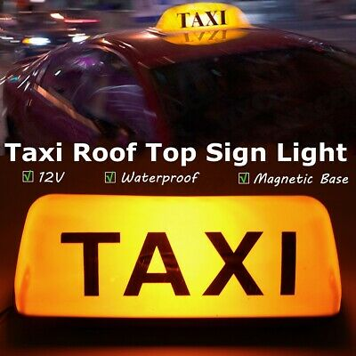 $15.67 • Buy Yellow 12V Taxi Cab Sign Roof Topper Car Magnetic Sign Lamp Light Waterproof