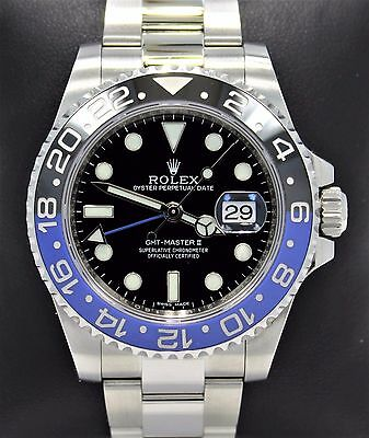 $ CDN18687.96 • Buy Rolex GMT-MASTER II 116710 BLNR BATMAN Black/Blue Ceramic Bezel MINT NO RESERVE