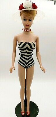 $ CDN263.63 • Buy Vintage Barbie Doll #5 Ponytail Blonde Perfect & Gorgeous!  Free Stand
