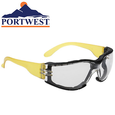AU14.95 • Buy Portwest Wrap Around Safety Glasses Spectacles Clear Lens Work Workwear