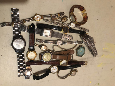 $ CDN17 • Buy Lot Of 16 Vintage Watches For Collectors No Guarantee If They Work