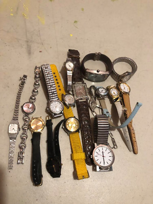 $ CDN16 • Buy Lot Of 16 Vintage Watches For Collectors No Guarantee If They Work