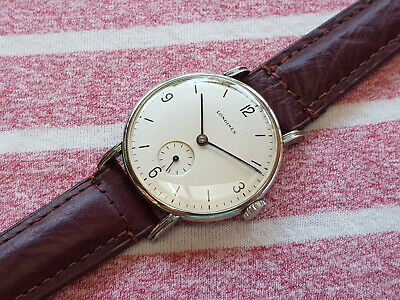 $ CDN528.44 • Buy Freshly Serviced Vintage Longines With Fancy Lugs 35 Mm Steel Case From 1940's