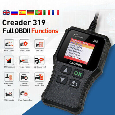 AU39.99 • Buy Launch CR319 Car Fault Code Reader Scanner Diagnostic OBD2/CAN For Ford Toyoto