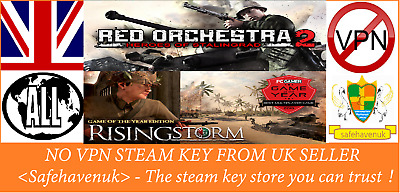 £4.99 • Buy Red Orchestra 2: Heroes Of Stalingrad With Rising Storm Steam Key NOVPN RegFree