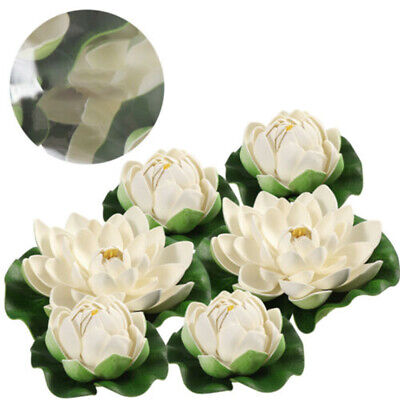$ CDN14.67 • Buy 6x Artificial Lotus-Flower Water Lily Floating Pool Plants Garden Wedding Decor