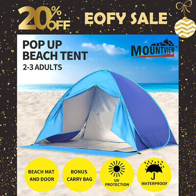 AU45.99 • Buy Mountview Pop Up Camping Tent Beach Tents 2-3 Person Hiking Portable Shelter