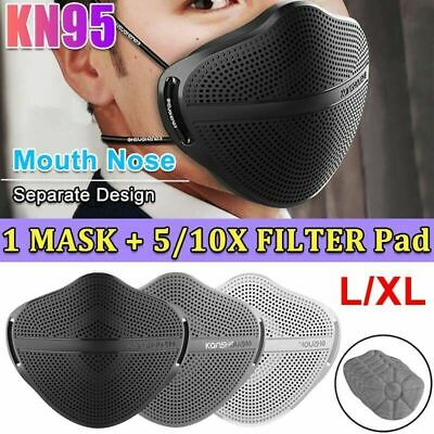 $ CDN12.65 • Buy Face Mask Reusable Washable With Carbon Filter Mouth Nose Separate Anti Haze Fog