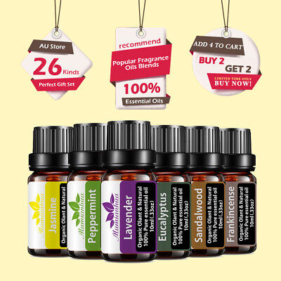 AU10.48 • Buy 10ML Pure Natural Aromatherapy Essential Oil Fragrance Aroma Therapeutic