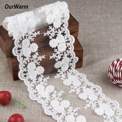 White Cotton Lace Trim Ribbon Fabric Crafts Sewing DIY Embellishments Wedding • 2.39£