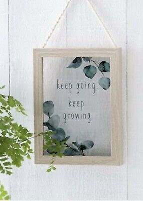 Next Botanical Hanging Frame With Quote • 8£