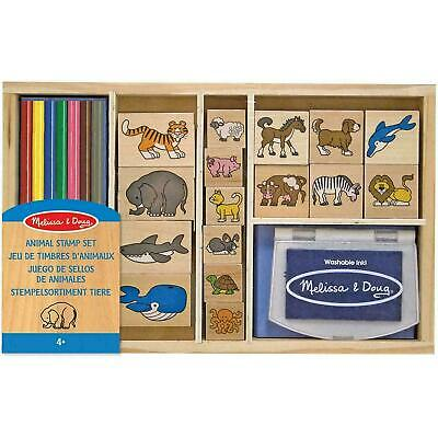 Melissa & Doug Wooden Animal Stamp Set - Arts & Crafts - For Kids Ages 4 Years + • 12.86£