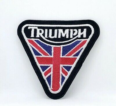 Triumph Motorcycles Biker Rocker Badges Iron Sew On Embroidered Patches • 1.90£