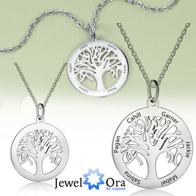 AU13.29 • Buy Personalized Tree Of Life Necklace For Women Engraving Family Names Mothers Gift
