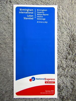National Express 777 Timetable [332] • 0.99£