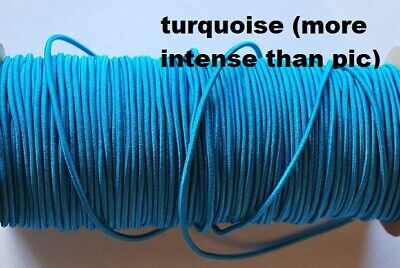 $ CDN13.99 • Buy Free Shipping  Turquoise 10 Yards SOFT Colors 2mm Elastic For Masks