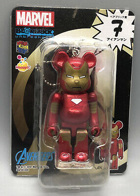 $69.99 • Buy RARE Medicom 100% Bearbrick Marvel Avengers Iron Man USSeller Happy Kuji Figure