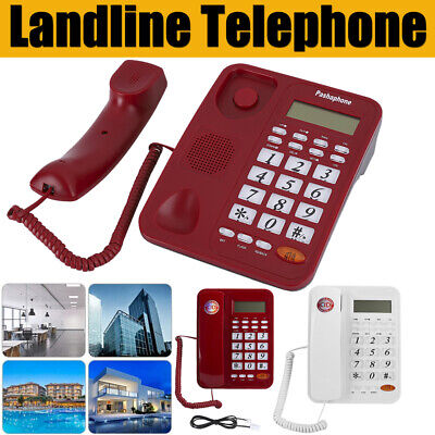 Wired Desktop Phone Landline Telephone With Caller ID For Home Office Hotel • 18.12£