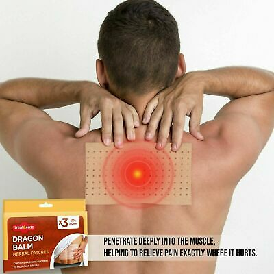 Dragon Balm Pain Relief Patches Herbal Back Plasters Deep Heat Muscle Remedy UK • 2.79£