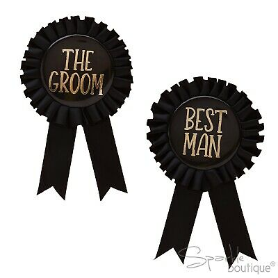 £2.99 • Buy STAG NIGHT ROSETTE BADGES - Groom / Best Man - Bachelor Party Accessories -Large