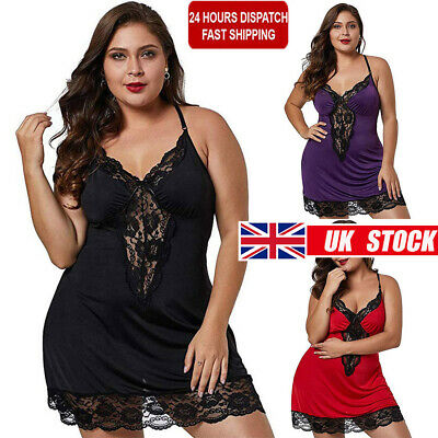 Sexy Womens Lingerie Pajamas Babydoll Nightwear Underwear Night Dress Size 18-28 • 7.19£