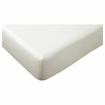 IKEA Somnig White Single Fitted Sheet 166 Thread Count ( 90 X 190 ) • 10.99£