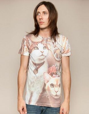 £31.62 • Buy Drop Dead Clothing - Elegant Cat Tee Tshirt Rare BMTH Oliver Sykes Rare Cats