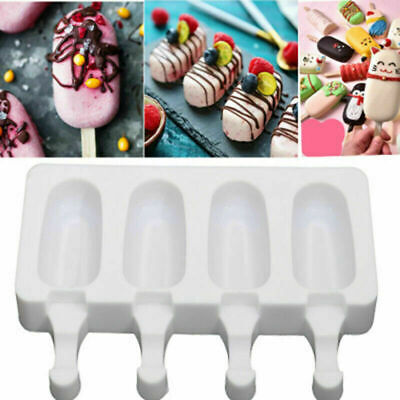 DIY Silicone Ice Cream Cake Mold Ice Lolly Baking Frozen Mould Tray Kitchen Tool • 5.79£