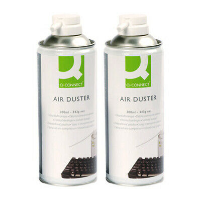 2 X Q-Connect Compressed HFC Free Air Duster Cleaner Can 400ml Laptop Keyboard • 10.96£
